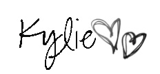 Kylie blog signature